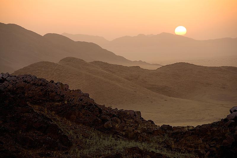 sunset, Sossusvlei, southern Namibia