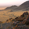 Late afternoon view from mountain near Sossusvlei, southern Namibia