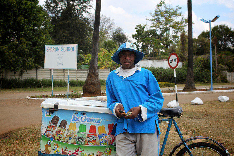 Sharon's ice cream official.  Sharon School, Harare, Zimbabwe (2011) © Copyrights Michel Botman Photography