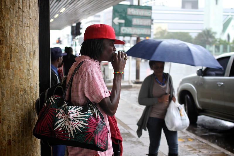 Rasta smoker waiting for the sun, Harare, Zimbabwe (2011) © Copyrights Michel Botman Photography