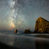 Milky Way and Haystack Rock