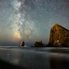 Milky Way and Haystack Rock