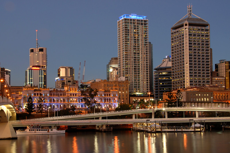 Evening view of Brisbane, Australia.