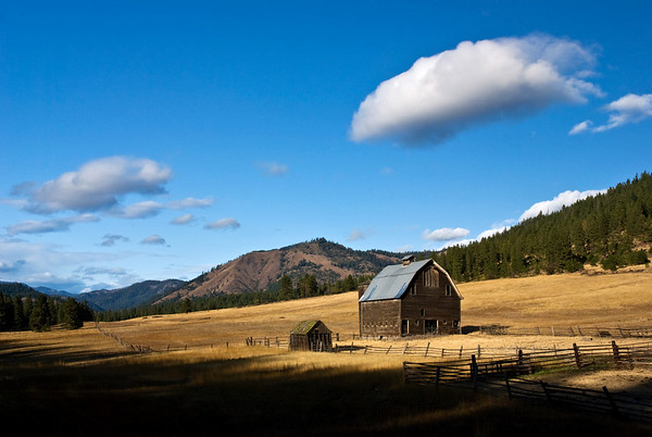 Swauk Creek barn-This barn has survived the Taylor Bridge Fire started near Cle Elum.