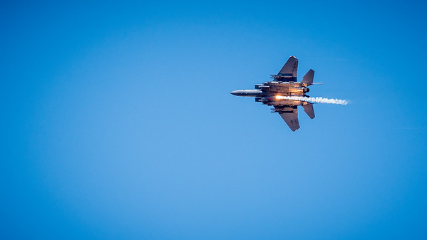 F-15 Dropping Flares