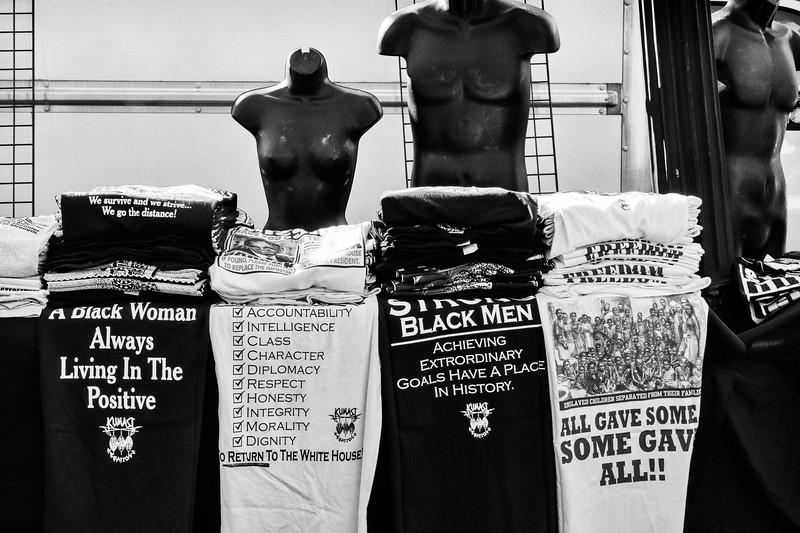 More t-shirts for sale at the MLK Day celebration and civil rights rally, January 20, 2020