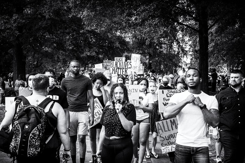 Leaders at the Mothers United rally for BLM, peace and Justice, June 14, 2020