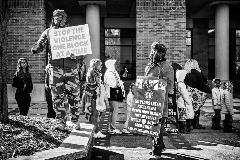 Stop the violence!  MLK Day celebration and rally, January 20, 2020