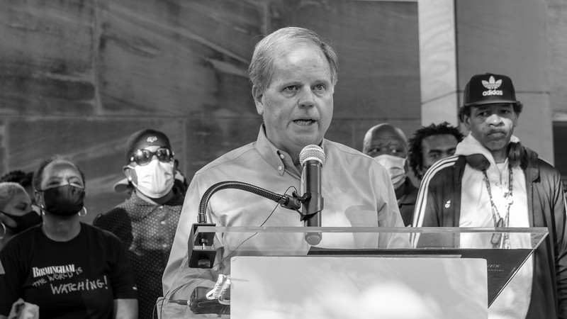 Senator Doug Jones speaks at the Rally for Peace and Justice, May 31, 2020