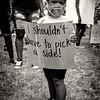 Child's signage at the Million People March for justice, June 19, 2020