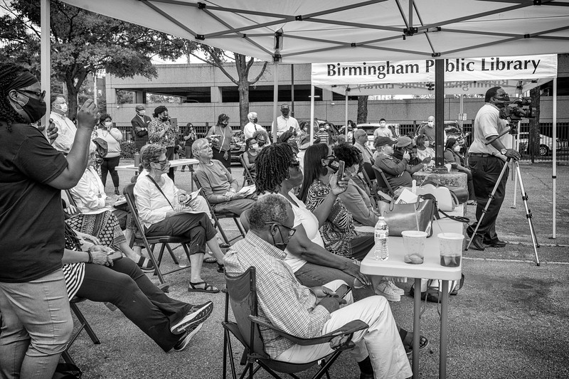 Crowd in attendance for the Freedom Rides commemoration event at the Birmingham Public Library