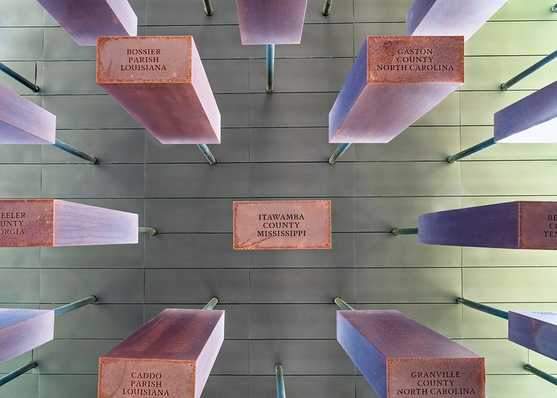 Memorial of Counties and states that participated in lynching of black people