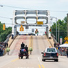 crowds watch as the final Jubilee processes toward the Edmund Pettus Bridge, July 26, 2020