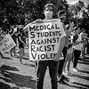 Med students signage, Mountain brook rally for justice and BLM, June 4, 2020