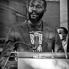 Mayor Randall Woodfin speaks at the rally for peace and justice, May 31, 2020