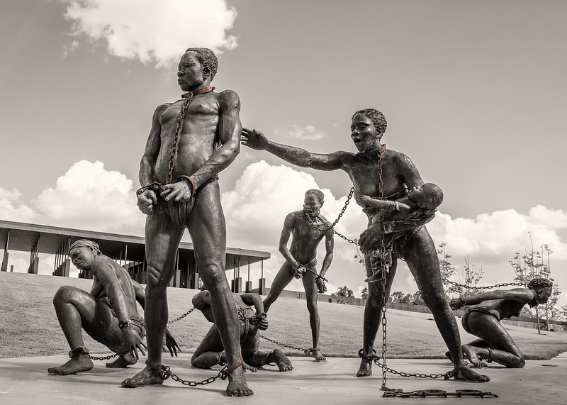 Installation at the memorial for Peace and Justice by Kwame Akoto Bamfo