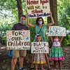 Never again will we be silent!  Family rally together for BLM, June 14, 2020