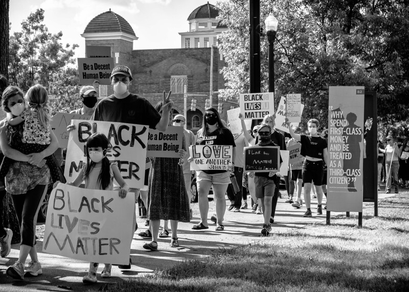Black Lives Matter!  Mothers United rally, June 14, 2020