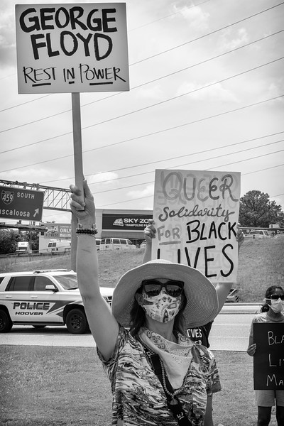 rest in Power George Floyd!  Signage at Hoover BLM rally, June 6, 2020