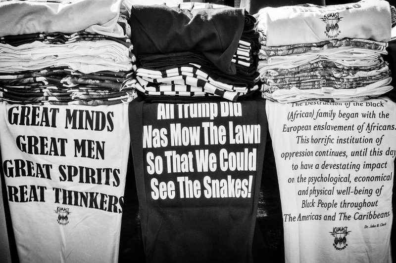 t-shirts for sale at the Civil Rights rally and MLK Day celebration, January 20, 2020