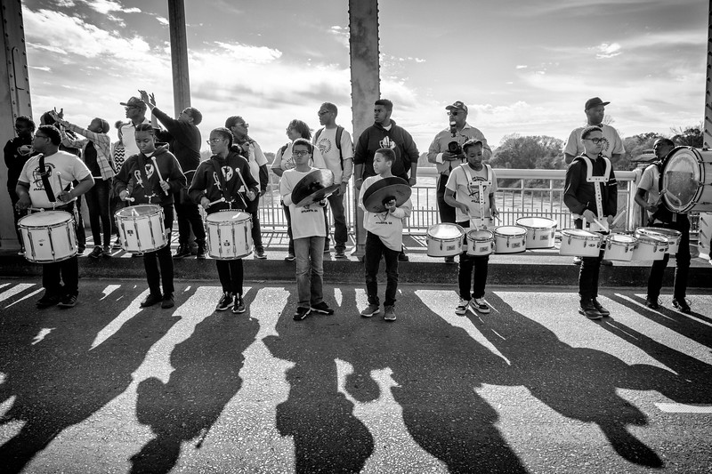 Drumline on the Edmund Pettus Bridge, March 1, 2020