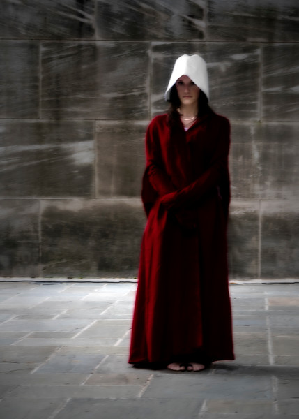 Handmaid's Tale costume at the rally for reproductive rights, May 19, 2019