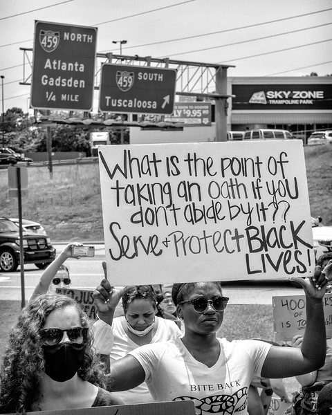 Oath to serve and protect!  Signage at the Hoover BLM rally, June 6, 2020