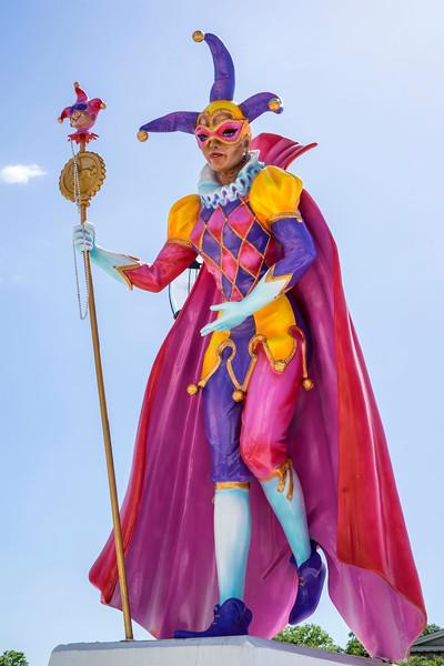Sculpture at Mardi Gras Park!