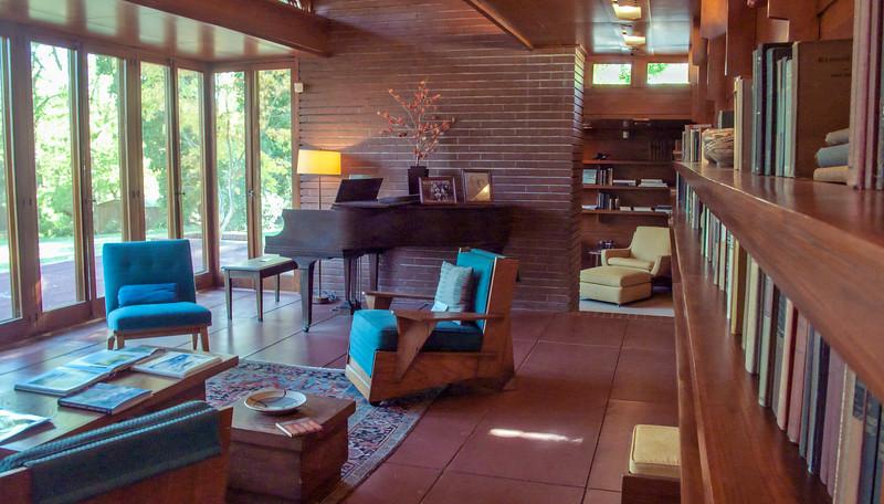 Living Space at the FLW designed Rosenbaum House