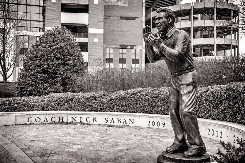 Sculpture of Nick Saban