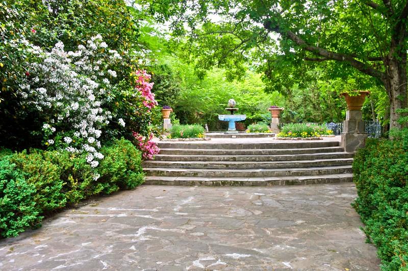 Azaleas and Fountain, Jasmine Hills Gardens!