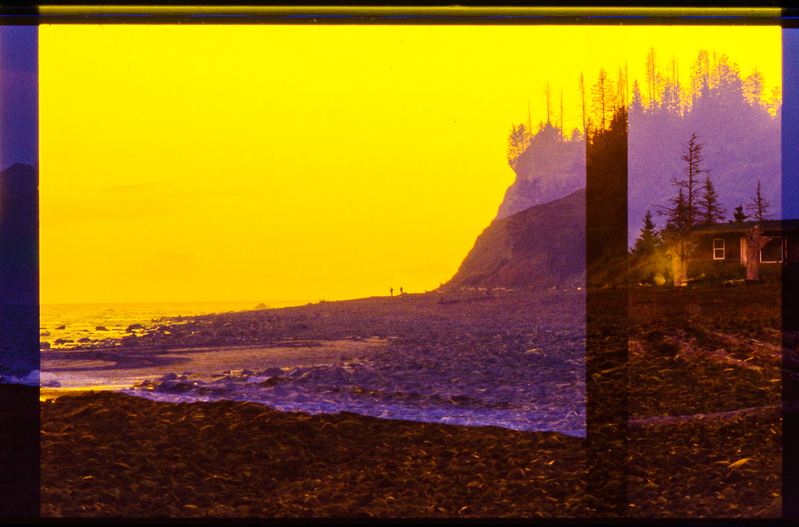 35mm double exposure in Homer, Alaska July 2009©MegSeidel