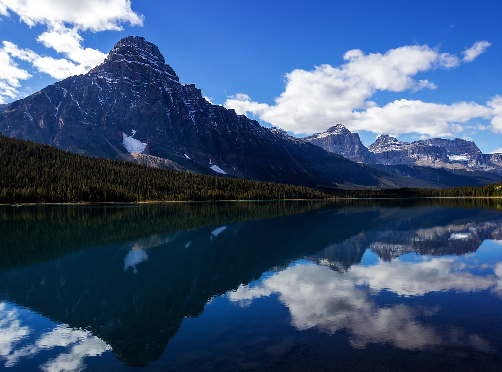 Mount Chephren over Waterfowl Lakes (Banff National Park)