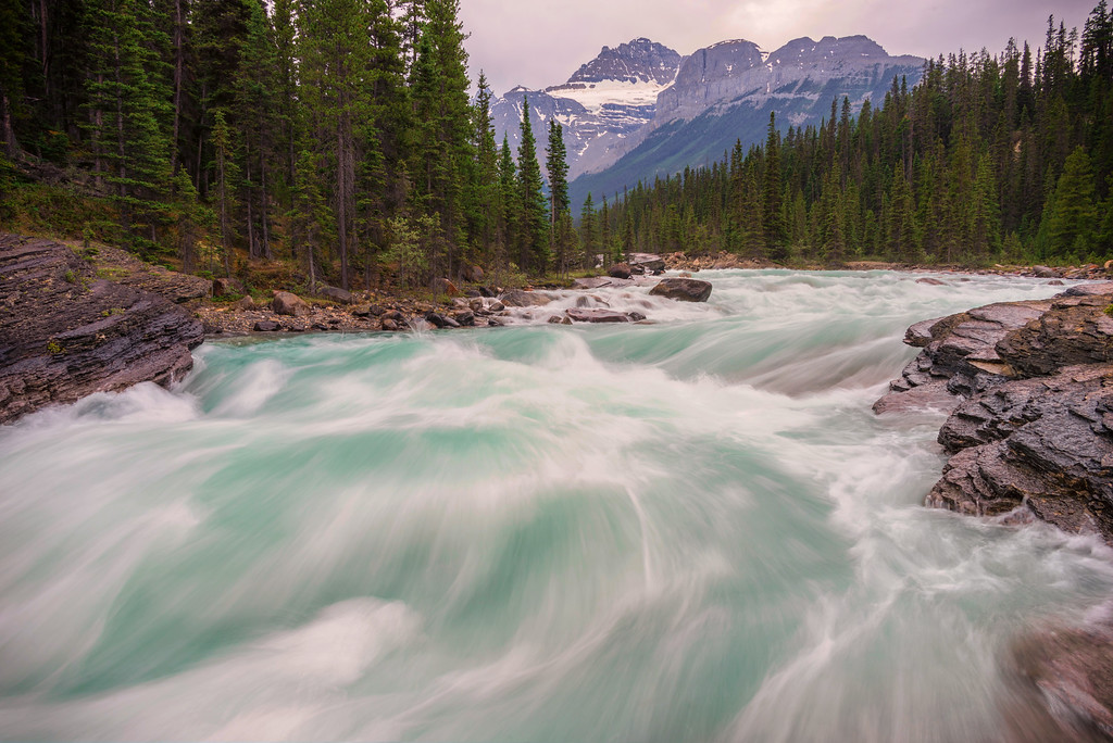 Evening on the Kicking Horse River (Yoho National Park)