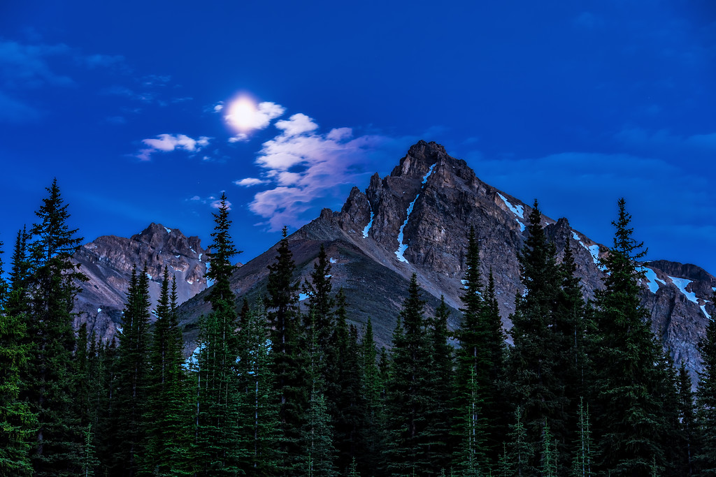 Banff Under the Moonlight (Banff National Park)