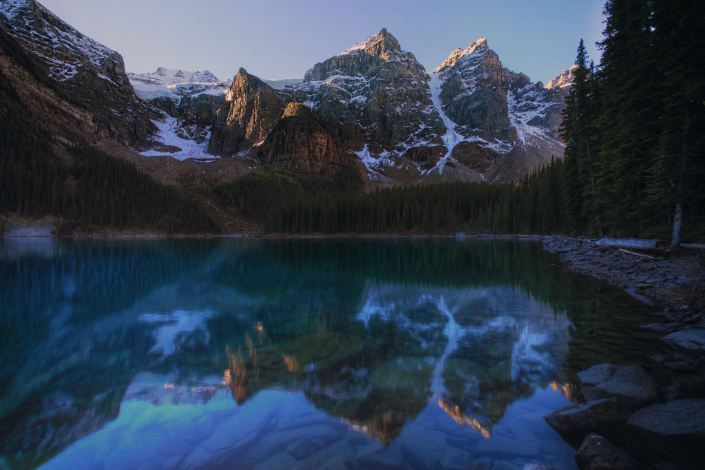 Lake Moraine Reflection in the Morning