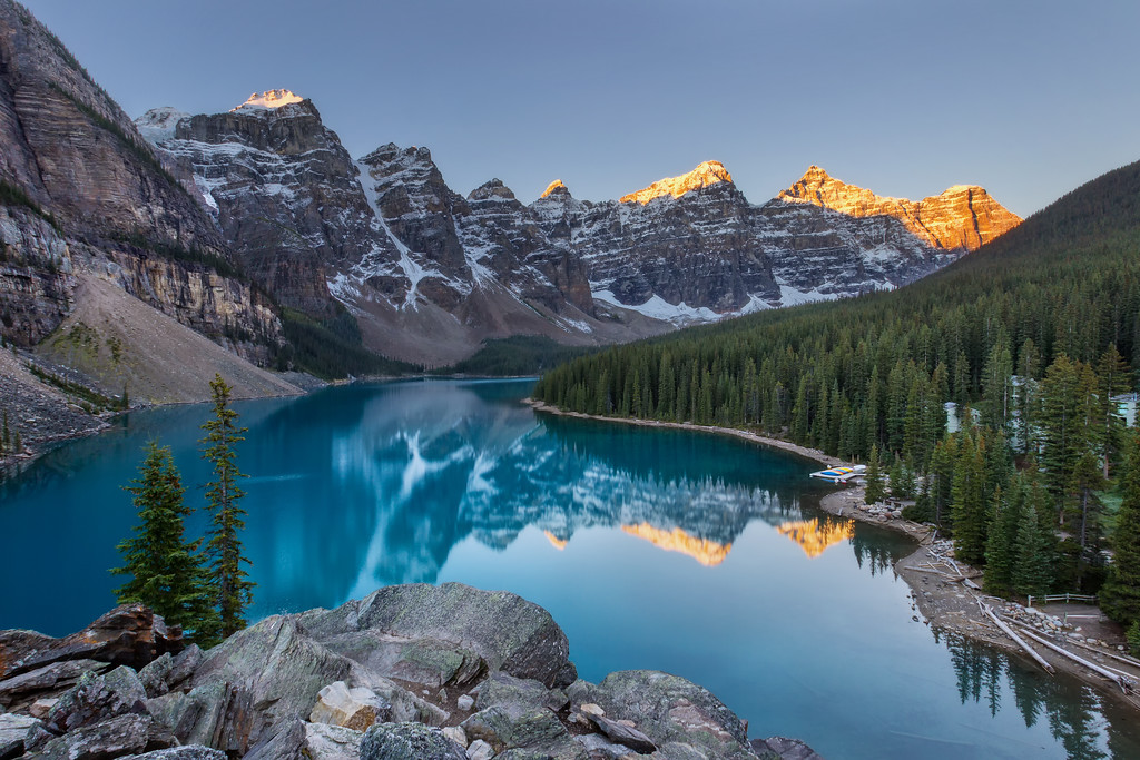 Lake Moraine at Sunrise (Banff National Park)