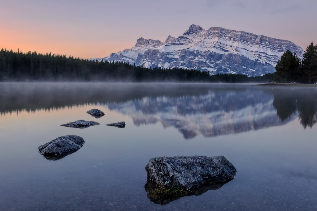 Sunrise at Two Jack Lake (Banff National Park)
