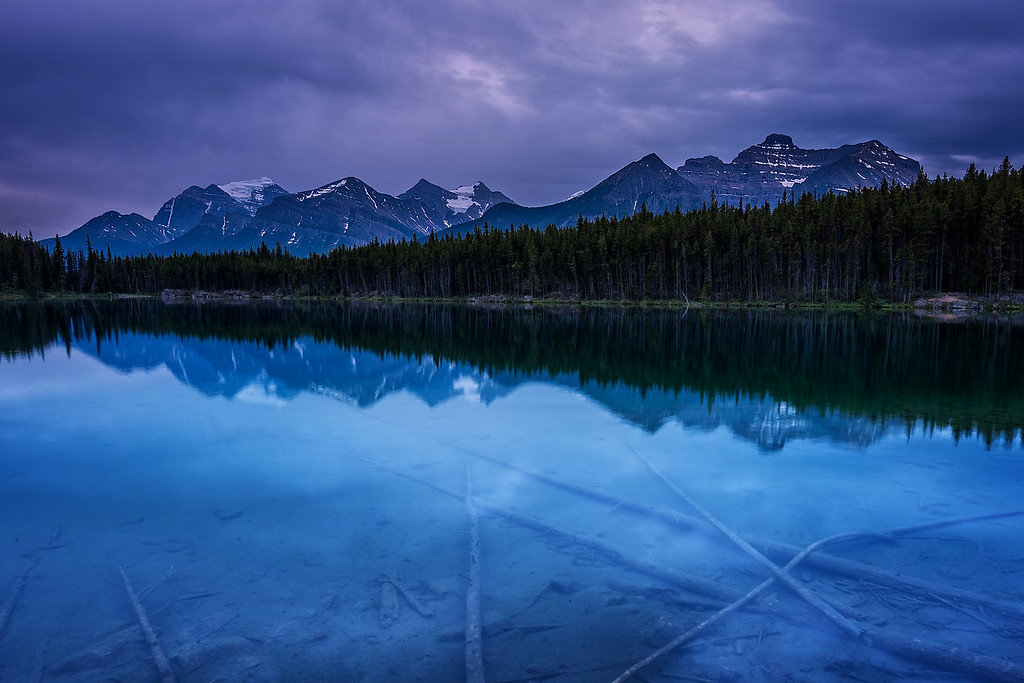 Dreary Morning over Harbert Lake (Banff National Park)