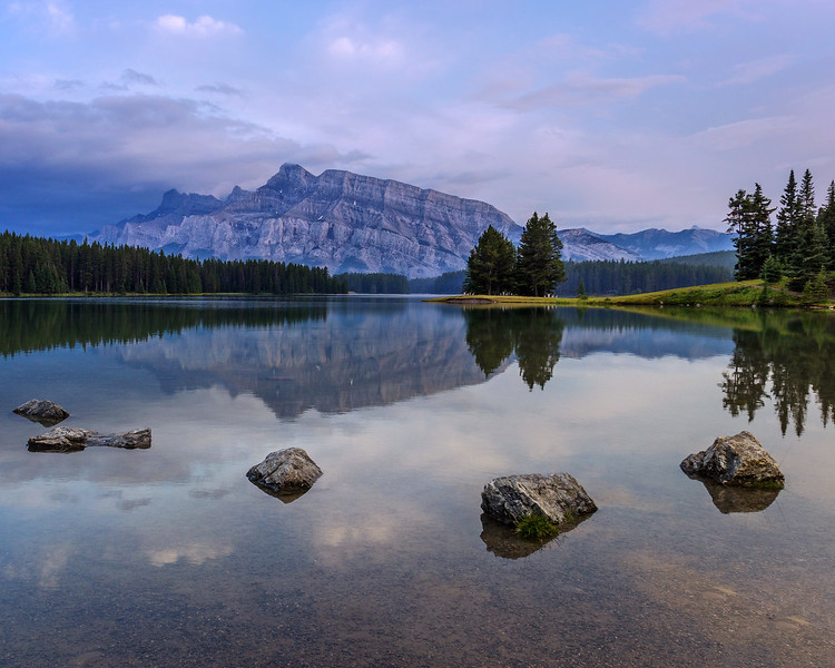 Peace and Serenity on Two Jack Lake (Banff National Park)