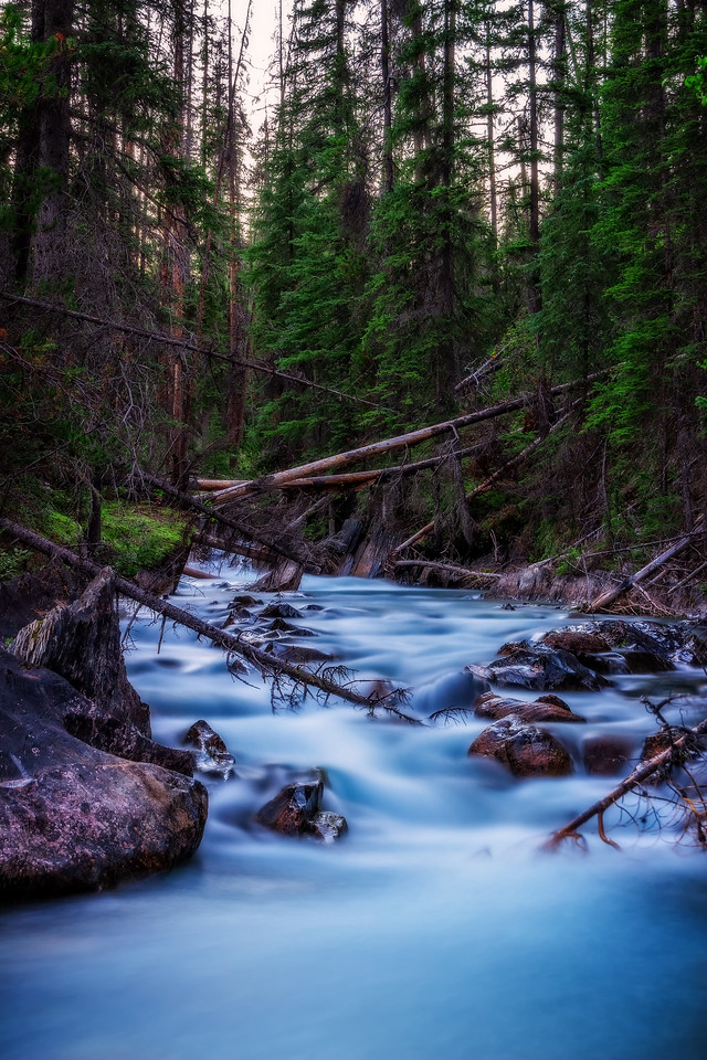 Emerald River at Dusk (Yoho National Park)