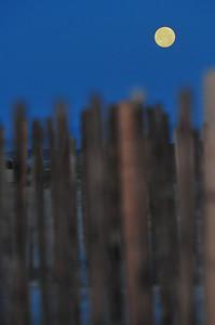"""Fenced Super Moon"" Hilton Head, SC taken April 2012"