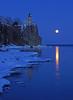 Valentine's Day Moonrise at Split Rock 002