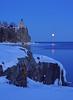 Valentine's Day Moonrise at Split Rock 001