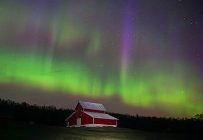 Aurora over farm 001