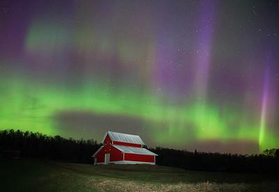 Aurora over farm 003