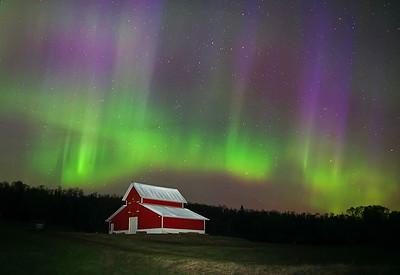 Aurora over farm 002