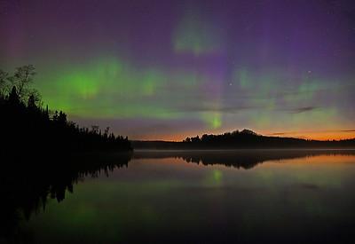 Aurora at Sunrise Caribou Lake