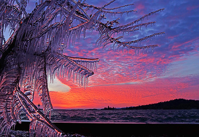 Grand Marais Harbor Sunset 001