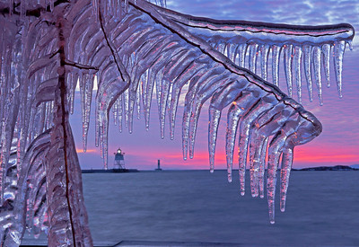 Grand Marais Harbor Sunset 002